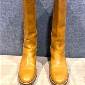 J. Crew Leather Boots Sz 6.5 Made in Italy